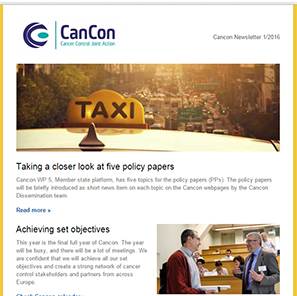Cancon Newsletter 1/2016